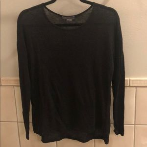 New Vince 100% linen semi-sheer knit pullover top